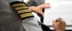 A pilot updating their CV